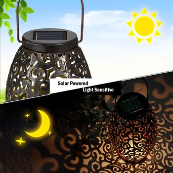 Zewnętrzne LED oswietlenie ogrodu słonecznego energia słoneczna energia latarka LED światło wiszące na zewnątrz lampa IP44 na Patio ogród dziedziniec ścieżka tanie i dobre opinie Tomshine solar lights for garden decoration 1 year Outdoor Lamp 1 2 v STAINLESS STEEL Brak Żarówki led ART DECO HOLIDAY