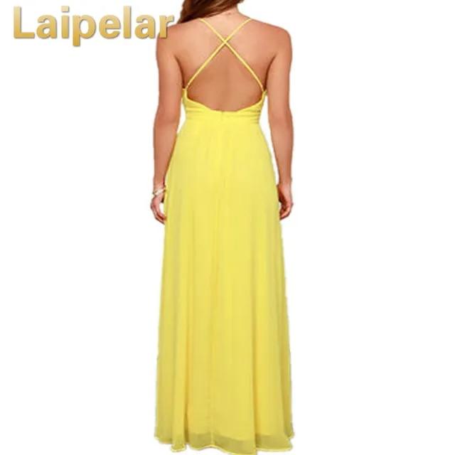 Laipelar Summer Off Shoulder Sexy Deep V Neck Beach Dress Women Strap Backless Maxi Long Evening Party Dresses Vestidos