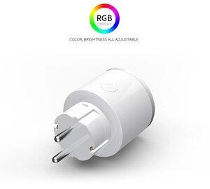 Image 2 - Smart Ladegerät für EU Wifi Smart Steckdose timer switcher Power Überwachung Energie Saver Arbeitet Mit Google Home Mini Alexa IFTTT