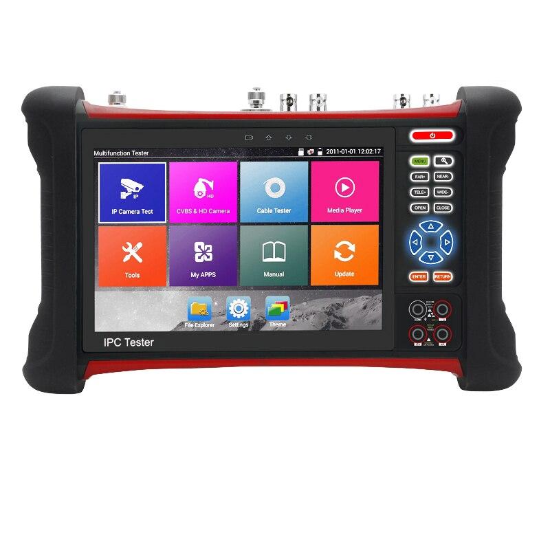 H.265 4 Karat 8MP Kamera tester TVI CVI AHD SDI CVBS IP 6 in 1 CCTV Tester mit TDR, kabel tracer, Multi-meter, ip-kamera tester