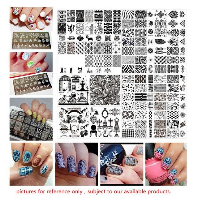 fingernagel muster schne tiere marken zeichnungen dekorative alle runde muster drucker platte nail art werkzeug - Fingernagel Muster