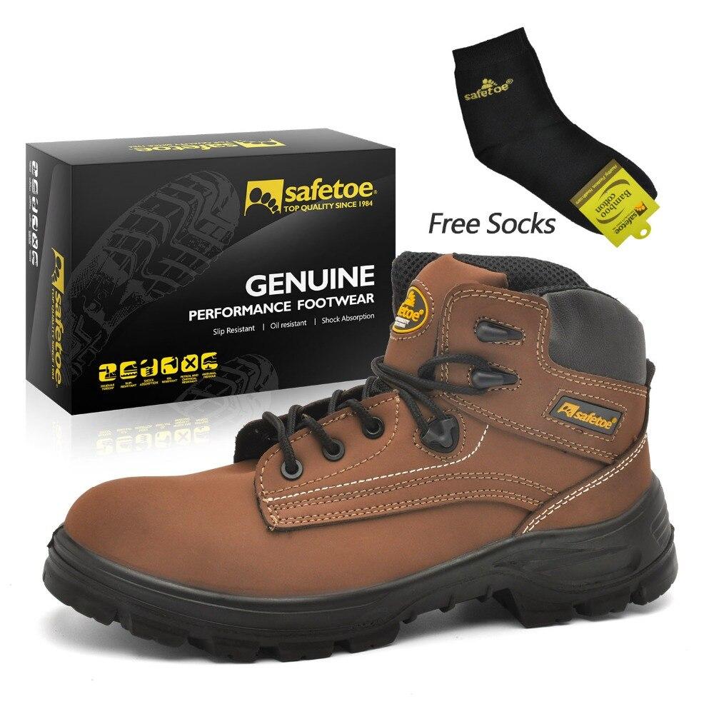 Safetoe Work Boots Extra Wide Steel Toecap Anti Static