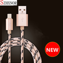 SZHXNOR 1M/2M/3M Long for iPhone Charger Cord Durable Braided 8 pin USB Cable charger for iPhone X 5 6 6s 7 8 plus ipad air IPOD