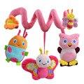 Christmas Soft Musical Animal Bee Pink Hanging Toys Plush Crib Bed Car Hanging Hand Rattles Baby Toys Girl Boy Gift Toys