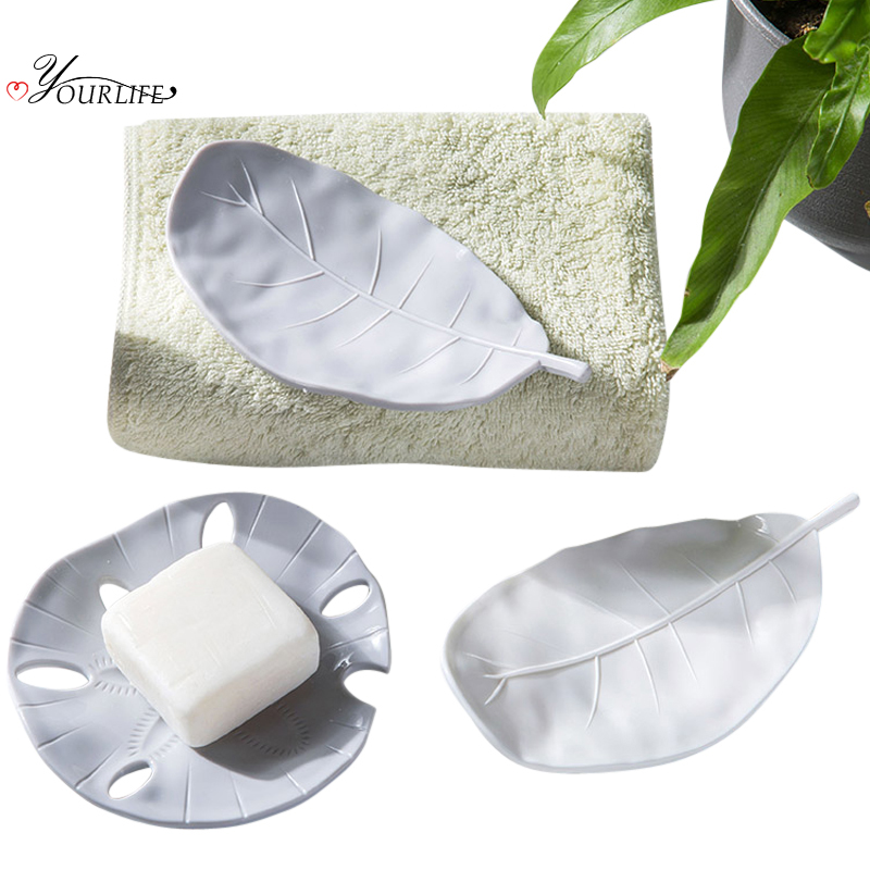 OYOURLIFE 1pc Creative Starfish Drain Soap Box Portable Outdoor Travel Soap Dishes Bathroom Soap Holder Case Bathroom Supplies