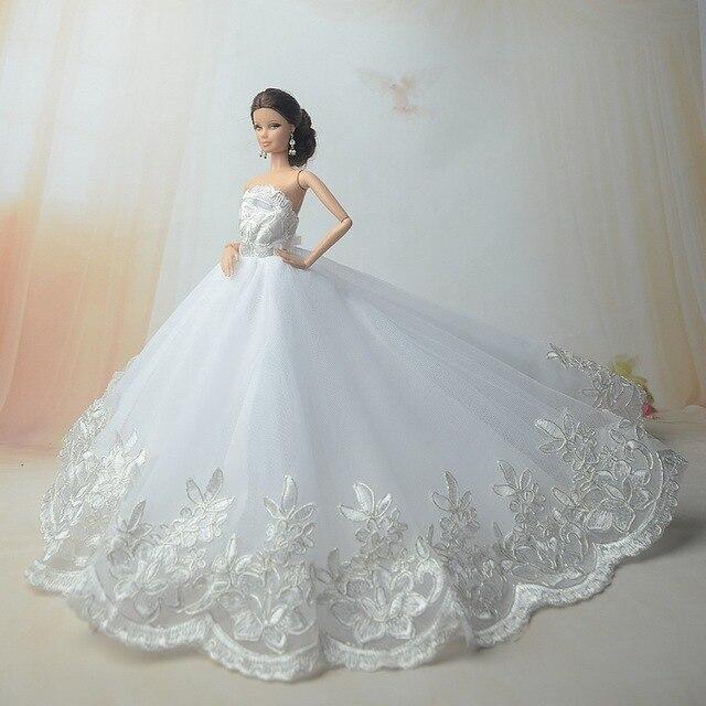 Nuovo per barbie abiti da sposa grande pannello esterno del vestito vestito  dalla principessa dei vestiti a3eb63e8d8f