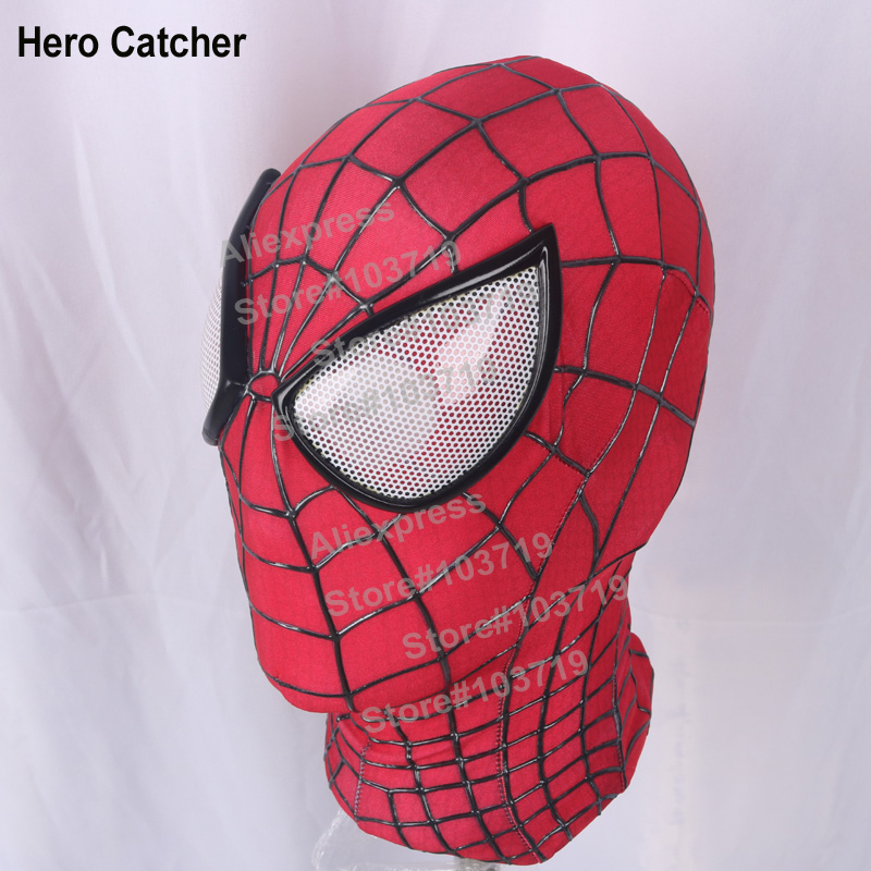 Hero Catcher High Quality Custom Made S M L XL 3D cobwebs Amazing Spider Man Mask