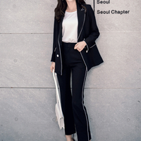 New Spring S Casual Pants Nine Small Suit Female Ladies Temperament Korean Fashion Tide Occupation Two
