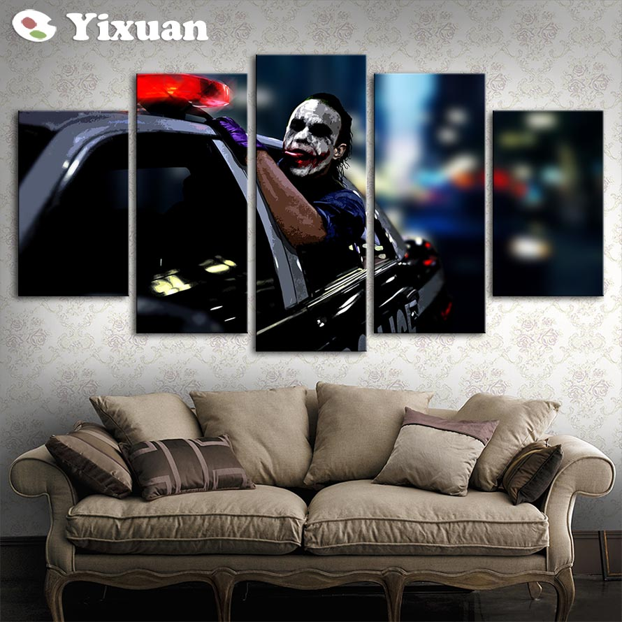 Comic Wall Decor Us 9 8 5 Panels Comic Clown Modern Wall Art For Wall Decor Home Decoration Picture Paint On Canvas Prints Painting Framed In Painting