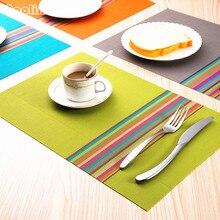 4 шт./лот ПВХ столовые приборы обеденный стол коврики колодки чаша салфетка кухня обеденный стол поднос ткань подставки водонепроницаемый термостойкий
