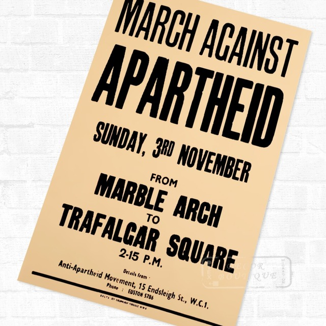 Protest Petition South Africa Apartheid Vintage Retro Kraft Poster ...