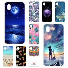 TPU Cases For ZTE Blade A3 2019 Case Silicone Floral Painted Bumper For ZTE Blade L8 A3 A7 A5 2019 Phone Cover Soft  Fundas Skin
