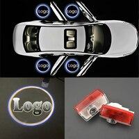 4 pçs 3d laser 12 v logotipo da porta do carro sombra luz bem-vinda projetor fantasma sombra passo lâmpada para mercedes-benz bmw toyota audi vw