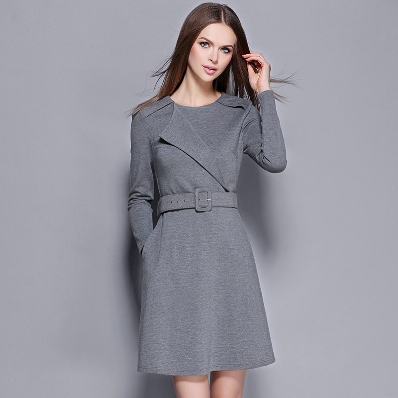 2016 fall/winter new women's dresses european design ...