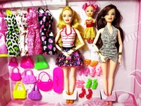 New Fashion Barbie Doll Set Big Gift Star Action Figure Models Cute DIY Toys For Girls Dolls Children Princess Set Dress Bags