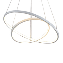 Modern simple LED pendant lights 3 circle rings acrylic aluminum body hanging lamp for home office decoration lighting fixtures
