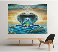Ethnic Hippie Bohemian Indian Buddhism Yoga Tapestry
