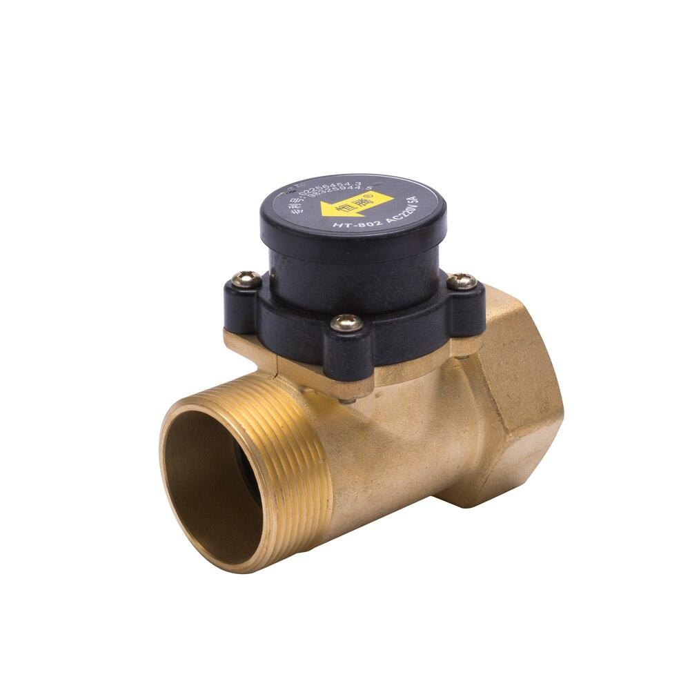 HT802 1,5 дюйма водяной насос, переключатель потока, усилитель жидкости, Солнечный нагреватель, латунь, магнитное давление, автоматический клапан управления, датчик 220 В