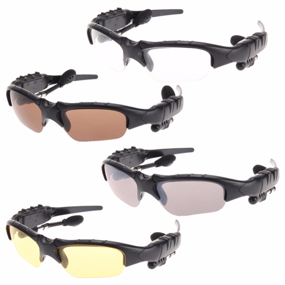 Outdoor Polarized Sunglasses 2 in 1 Wireless Bluetooth Headphone Sports Bicycle Outdoor Glasses + HIFI Earphone #235031 2 in 1 wireless bluetooth earphone