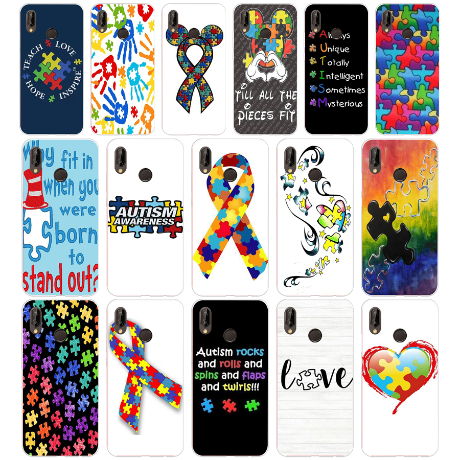 Cellphones & Telecommunications Enthusiastic 259sd Puzzle Autism Awareness Style Soft Silicone Tpu Cover Case For Honor 10 Huawei P Mate 10 20 Lite Y5 Y6 Prime 2018 Quality And Quantity Assured