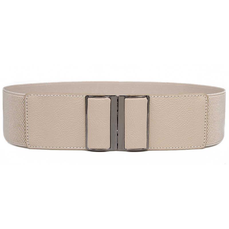 ... Cinturones anchos Vintage de moda de nuevo diseño para mujer pantalones  vaqueros de fiesta elásticos cinturones ... 05e6d6671fff