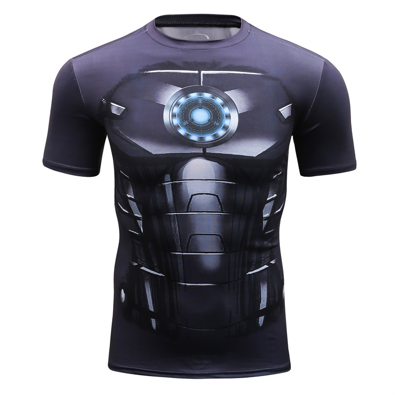 2018 High quality Cosplay Batman Man 3D Printed Men's T-shirt Short-Sleeved MMA Brand Fitness Exercise Men Tshirt Fun Sportswear