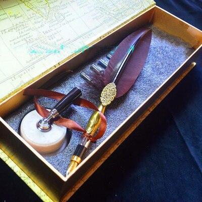 Harry Potter Nature plume plume plume cadeau stylo cramoisi