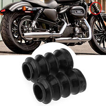 2 Rubber Front Fork Boots Shock Gaiters 39mm For Harley Davidson Iron 883 XL883 2017
