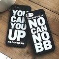 """Moda silicon soft case para iphone 7 plus cobre """"você pode até"""" capa fundas coque para iphone 6 s 6 plus 7 plus case capa"""