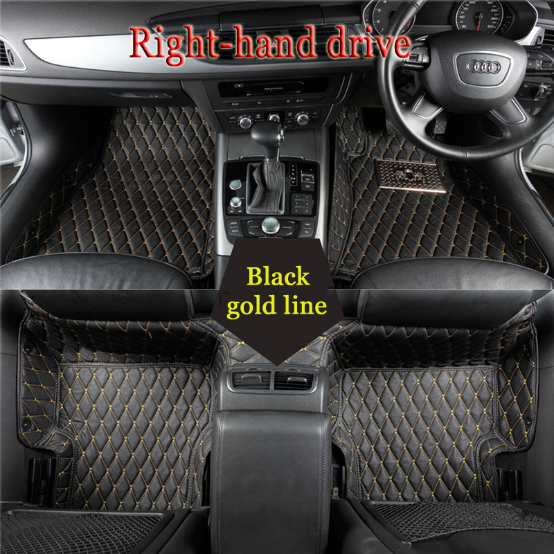 Car floor mats for Ford S-MAX C-MAX F-150 Mustang Edge Escape Kuga Fusion Mondeo Ecosport Focus Fiesta car styling carpet liner 3d creative chrome steering wheel sticker for ford fiesta ecosport kuga escape focus mondeo new drop shipping