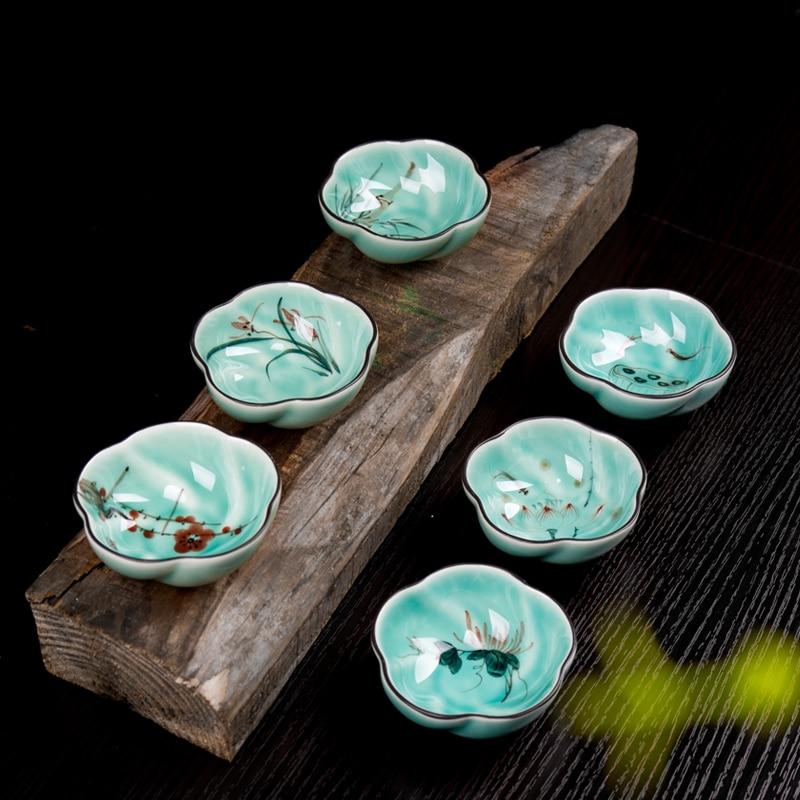 Handpainted Gong Fu Tea Cup Set