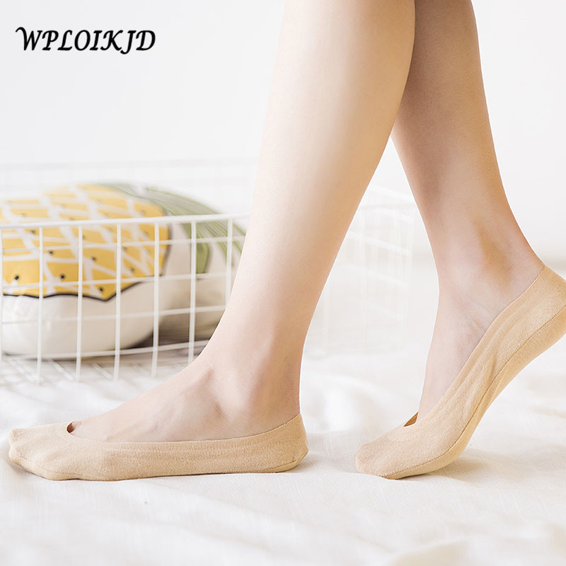 [WPLOIKJD]Handmade Elastic Anti Slip Breathable Silicone Cotton Women Socks Casual Comfo ...