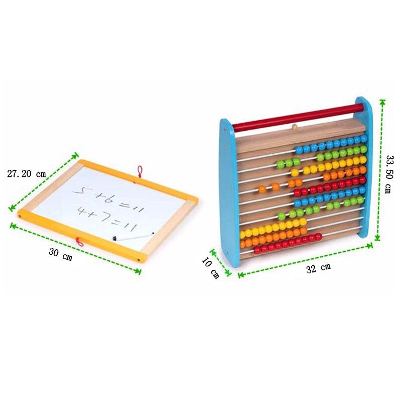 Reißbrett Zu Neue Jahr Die Magnetische Tafel mit Abacus Holzspielzeug Für Kinder Weihnachtsgeschenk für Kinder - 6