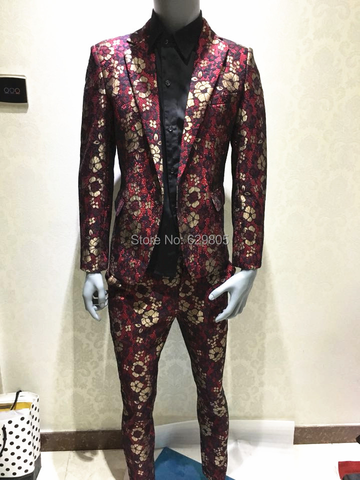 red and gold prom suits tulips clothing