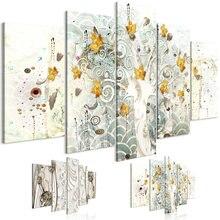 5 шт осенние листья стены искусства холст кристалл украшения