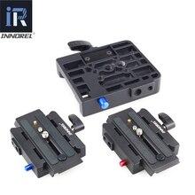 INNOREL Kit de Abrazadera de liberación rápida de aleación de aluminio actualizado, adaptador de placa QR para Manfrotto 501, 500AH, 701HDV, 503HDV, Q5, etc.
