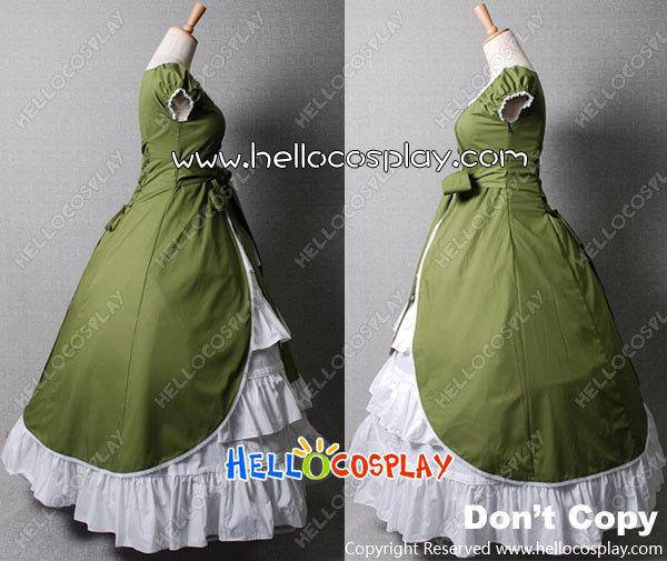 Nom du produit: Colonial Cosplay Lolita robe verte robe de bal Promess H008 - 3