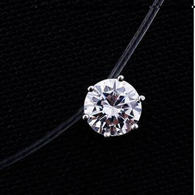2017 New Fashion Jewelry Top Quality Transparent Fishing Line Chain Link Cubic Z