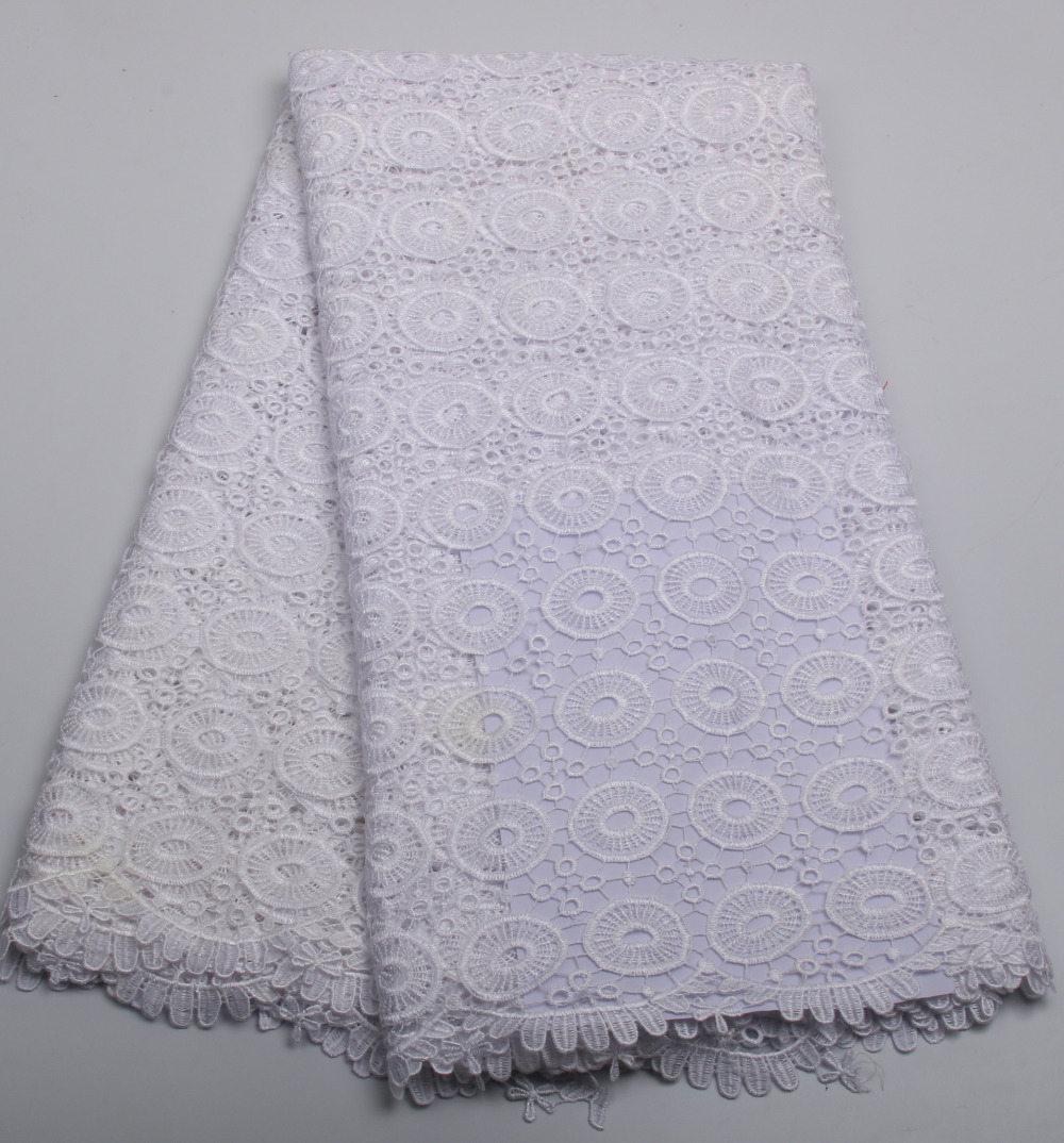 Buy 130cm width 11colors white embroidery for Wedding dress fabric stores