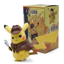 Película de 2019 Pikachu Detective PVC Figura del Anime Kawaii lindo Q estatua juguetes de la muñeca Figura de modelo para niños regalos de navidad