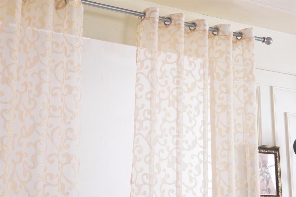 Plafond gordijnen vitrages raamdecoratie voile gordijn panel