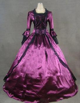 ¡NOVEDAD DE 2015! Vestido de baile de máscaras para señoras del siglo XVIII de María Antonieta, vestido de baile victoriano Medieval renacimiento de la era civil