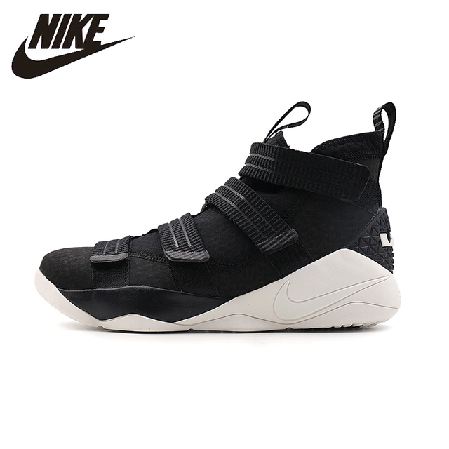 NIKE LeBron Soldier XI Original Mens Basketball Shoes Breathable Footwear  Black High Quality Full field Sneakers
