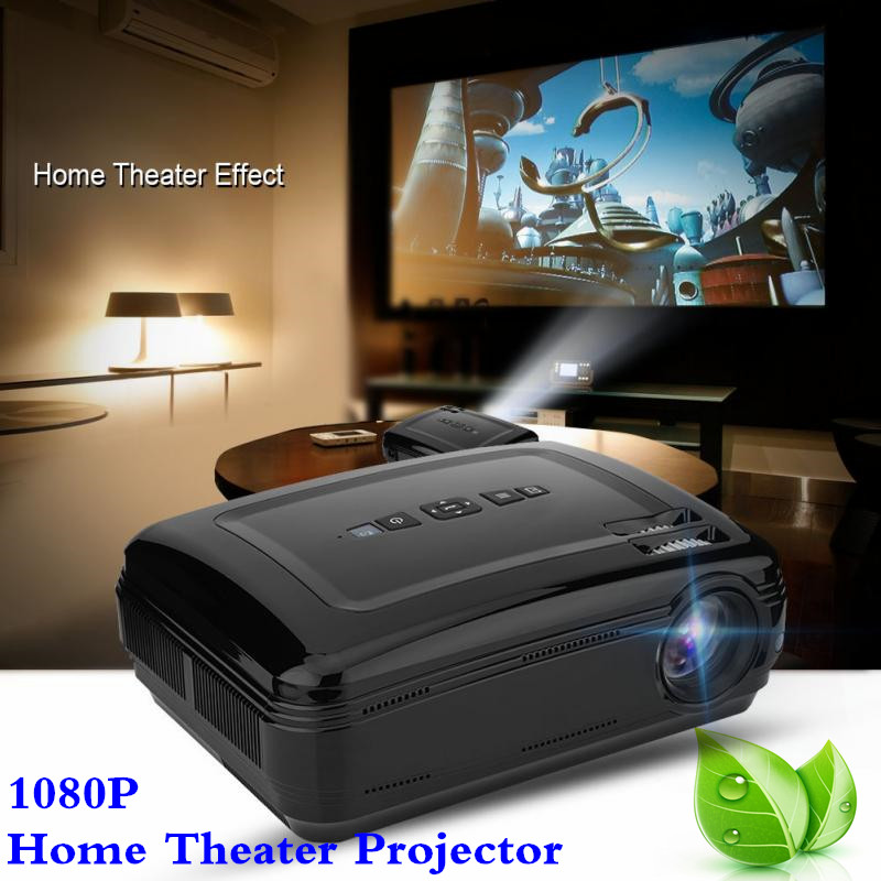 1080P Home Theater Projector 3000:1 Stereo Surrounding Sound 16.7K HD Projector Super Large Screen UK Plug