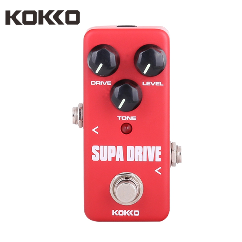 KOKKO FOD5 Mini Supa Drive Effect Guitar Pedal Ture Bypass Guitarra Effects For Electric Bass Guitar Parts Accessories Red
