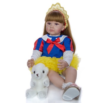 60cm Silicone Reborn Baby Doll Toys Like Real Vinyl Princess Toddler bebe Dolls Girls Bonecas Birthday gift Play House