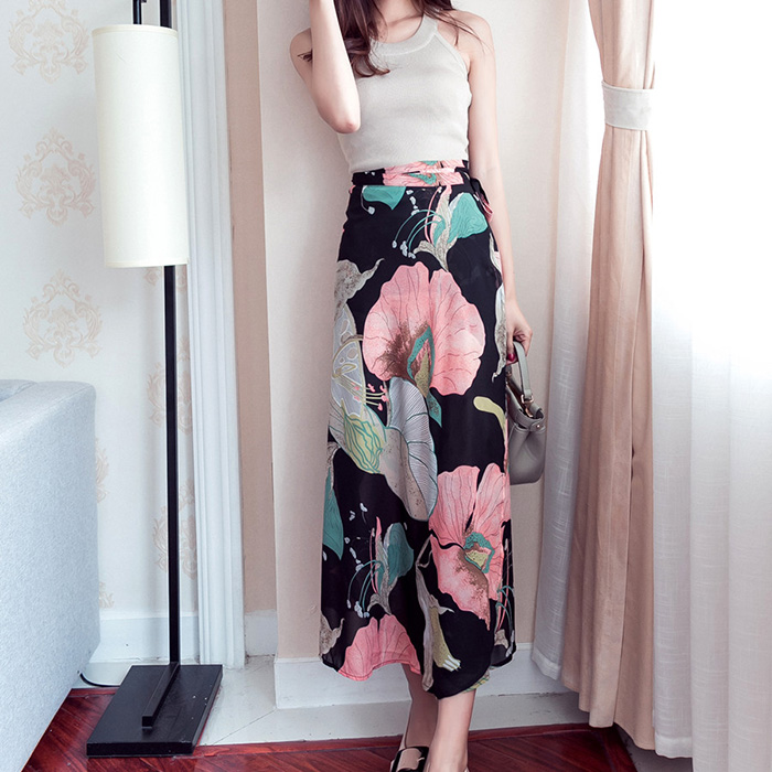 Boho Asymmetrical Chiffon Maxi Long Skirts 33