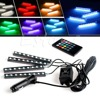 Wireless Remote Music Voice RGB Control Car Truck 9 LED Neon Interior Light Lamp