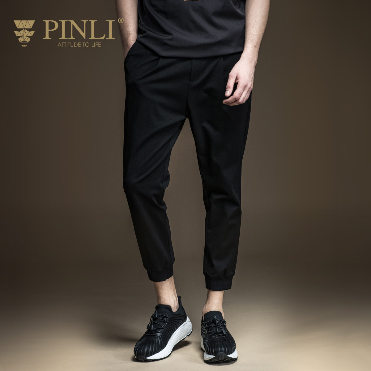 Pinli Sweatpants Jersey Men's Casual New Regular Nine Spring Mid Midweight B171317089