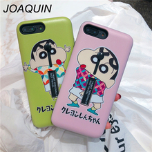 For iphone X XR Xs Max Case Cartoon Crayon Shin-chan Soft Silicon Ring Phone Case for iphone 6 6s 7 8 plus Hide Stand Holder цена и фото